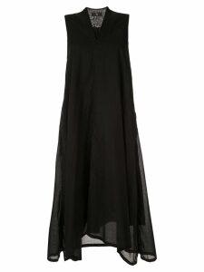 Y's flared midi dress - Black