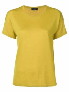 Roberto Collina round neck knitted top - Yellow