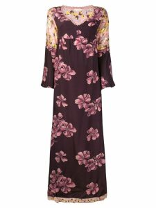 Anjuna floral print maxi dress - Purple