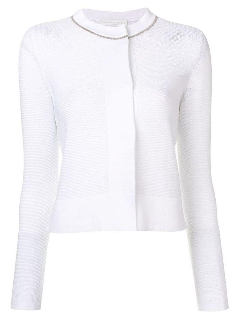 Fabiana Filippi rhinestone embellished cardigan - White