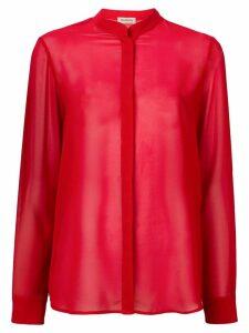 Blanca band collar shirt - Red