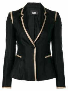 Karl Lagerfeld tailored twill blazer with piping - Black