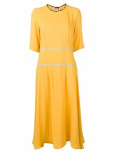 Marni flared midi dress - Yellow