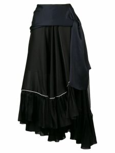 Sacai satin chiffon skirt - Blue