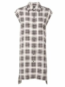 Marc Jacobs checked long shirt - White