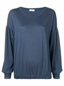 Closed round neck sweater - Blue