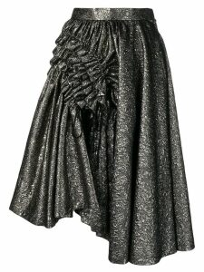 Comme Des Garçons Noir Kei Ninomiya metallic cloqué skirt - Gold