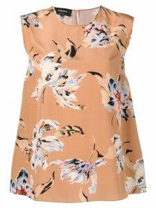 Rochas floral print blouse - Neutrals
