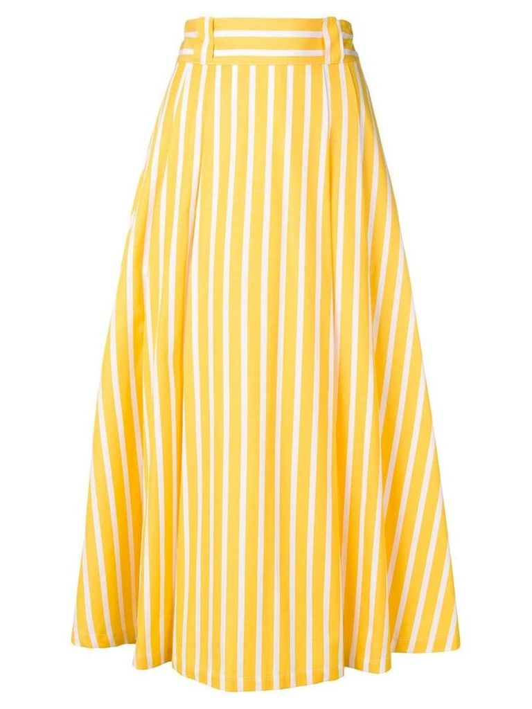 Société Anonyme striped midi skirt - Yellow