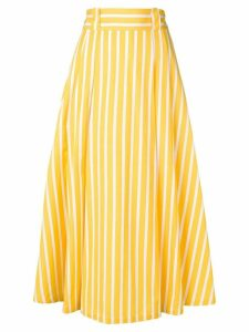 Société Anonyme striped midi skirt - Yellow