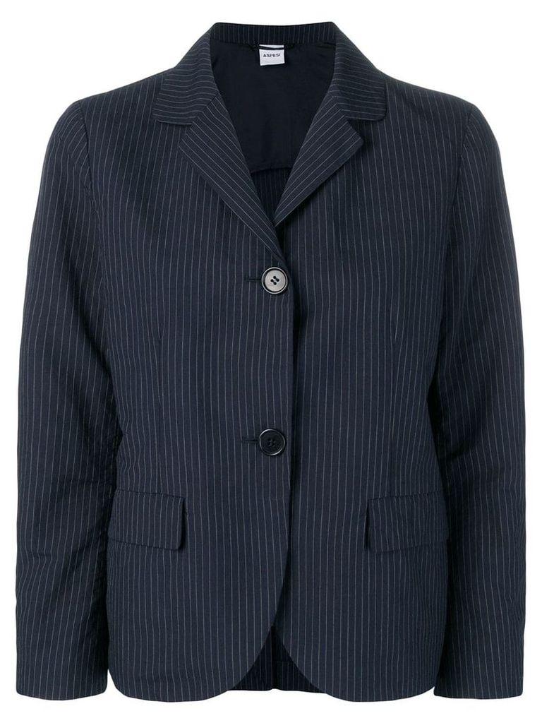 Aspesi pinstripe blazer - Blue