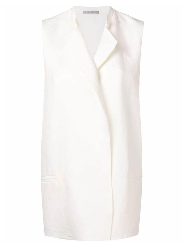 Dusan tailored oversized waistcoat - White