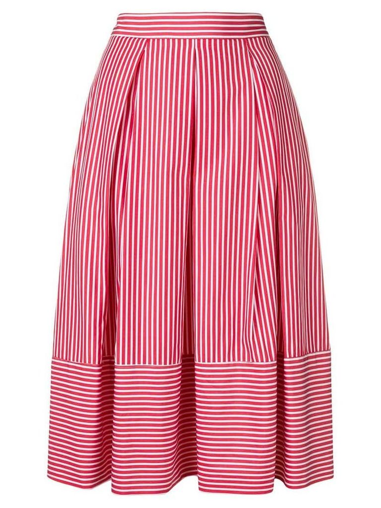 Société Anonyme striped midi skirt - Red