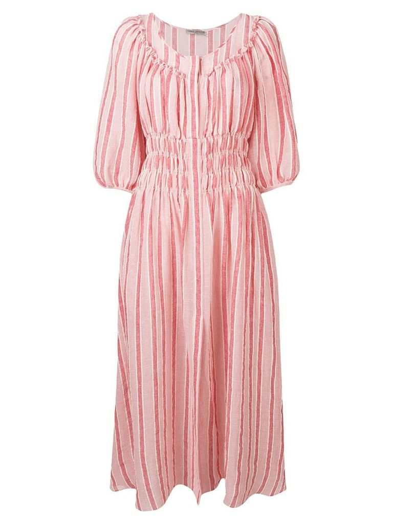 Three Graces Arabella striped dress - Red
