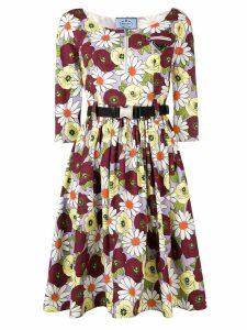 Prada floral print dress - Purple