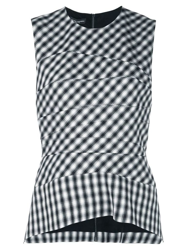 Narciso Rodriguez gingham top - Black/White