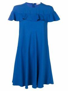 Red Valentino ruffled mini dress - Blue