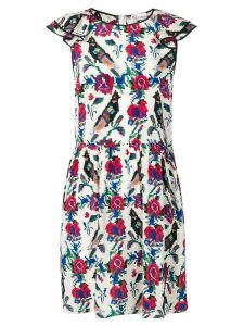 Red Valentino patterned dress - White