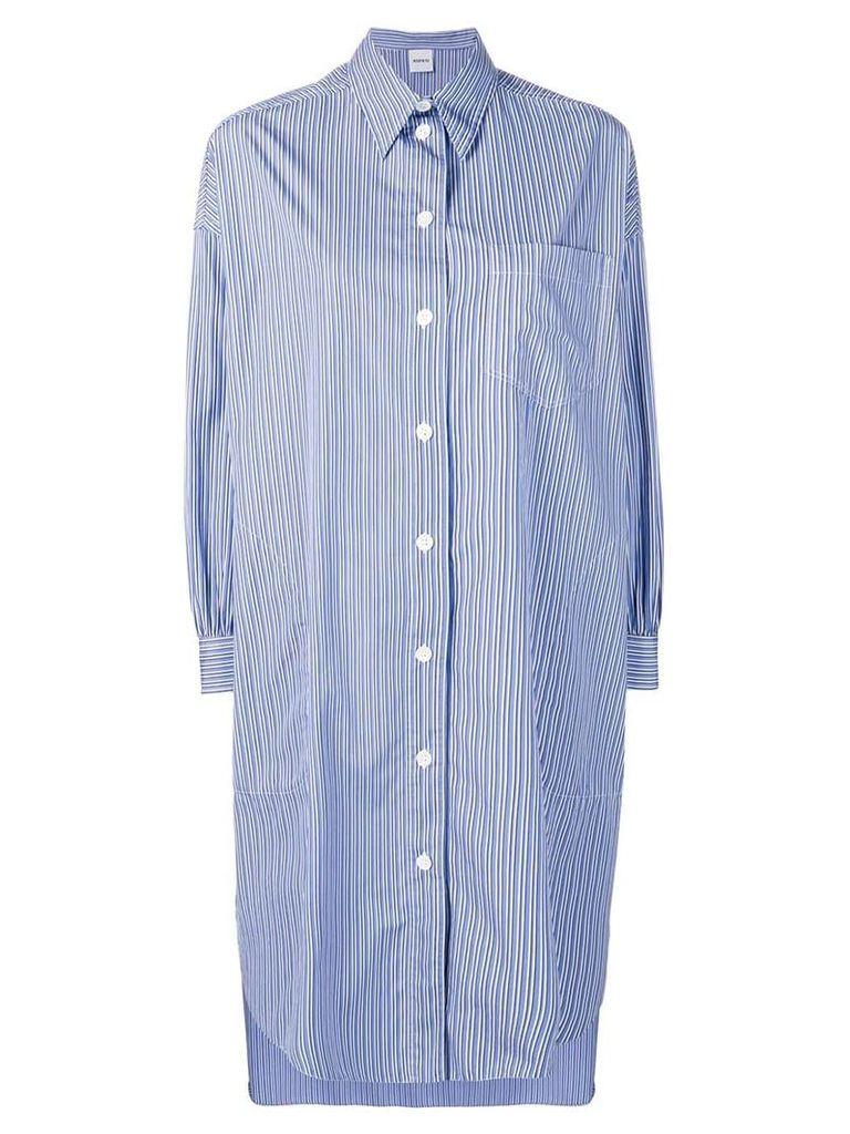 Aspesi asymmetric shirt dress - Blue