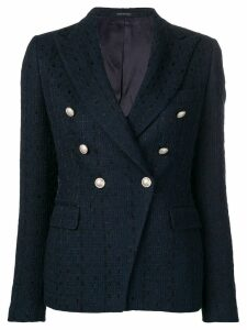 Tagliatore double-breasted tweed blazer - Blue