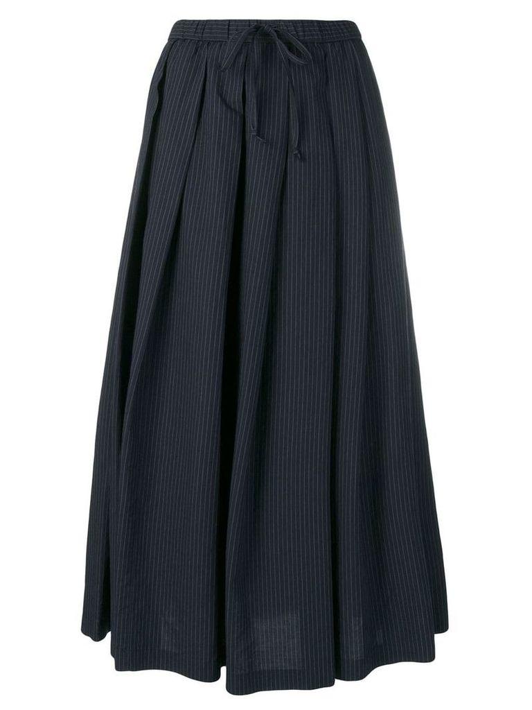 Aspesi pinstripe pleated skirt - Blue
