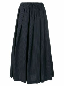 Aspesi pinstripe pleated skirt - Blue