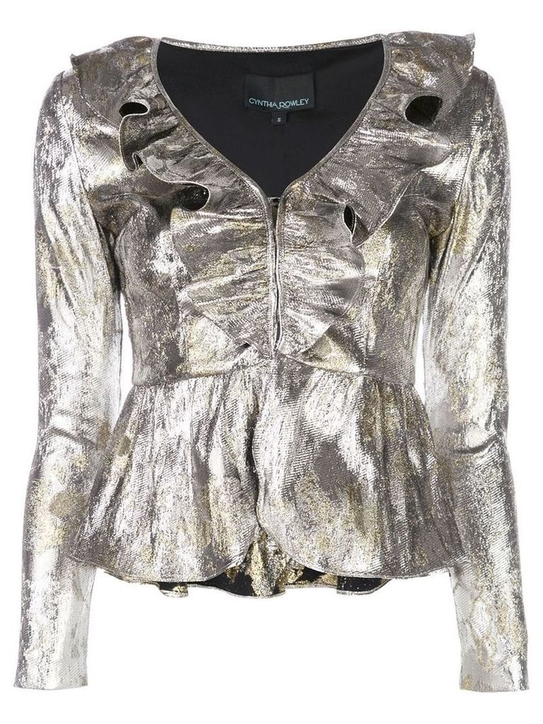 Cynthia Rowley Gold Coast metallic top - Silver