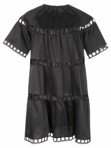 Cynthia Rowley Postcard Eyelet Dress - Black