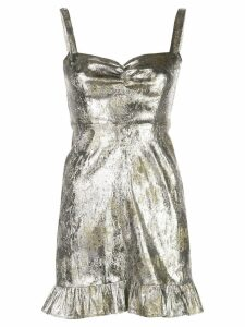 Cynthia Rowley Gold Coast Metallic Brocade Mini Dress