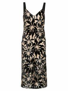 Beaufille Monet floral embroidered dress - Black