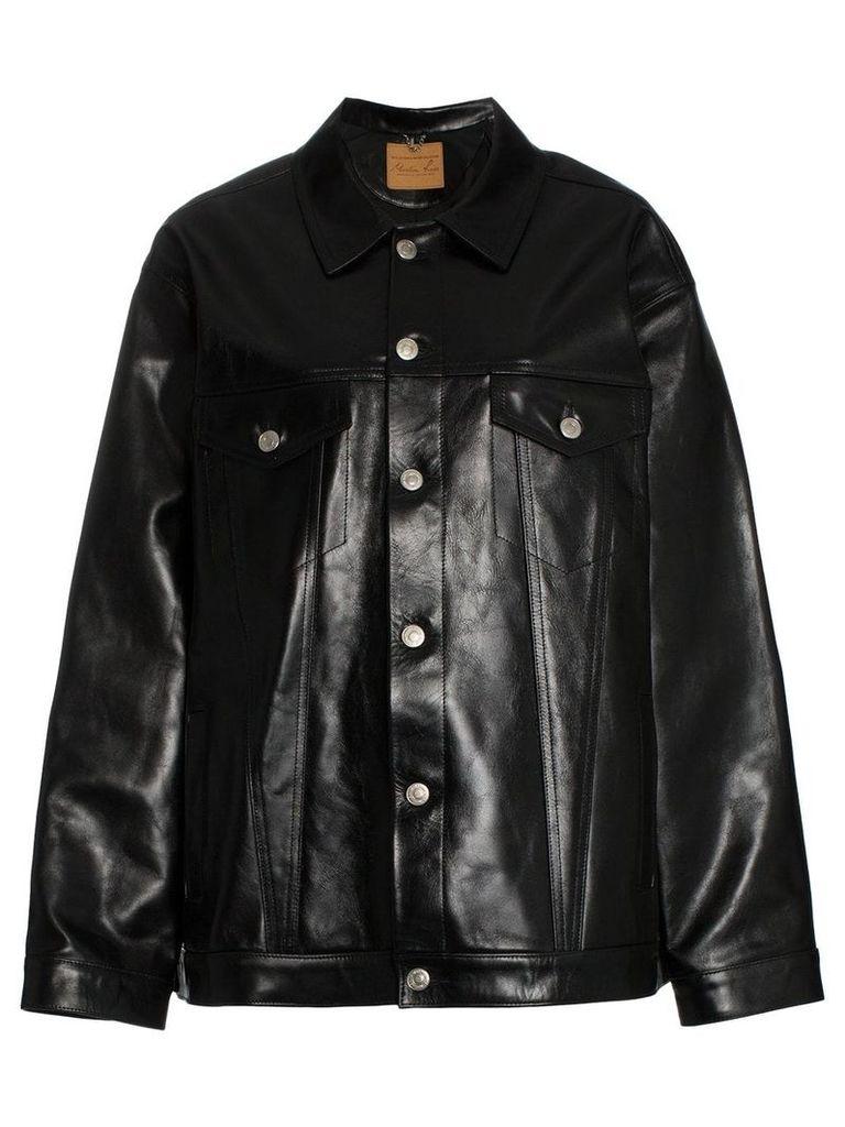 Martine Rose oversized leather jacket - Black
