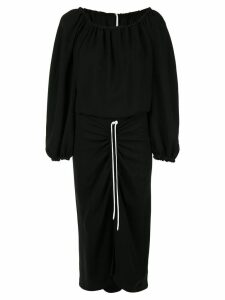 Bianca Spender elasticated day dress - Black
