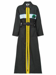 Miu Miu long zipped trench coat - Black