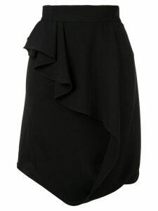 Bianca Spender asymmetric straight skirt - Black