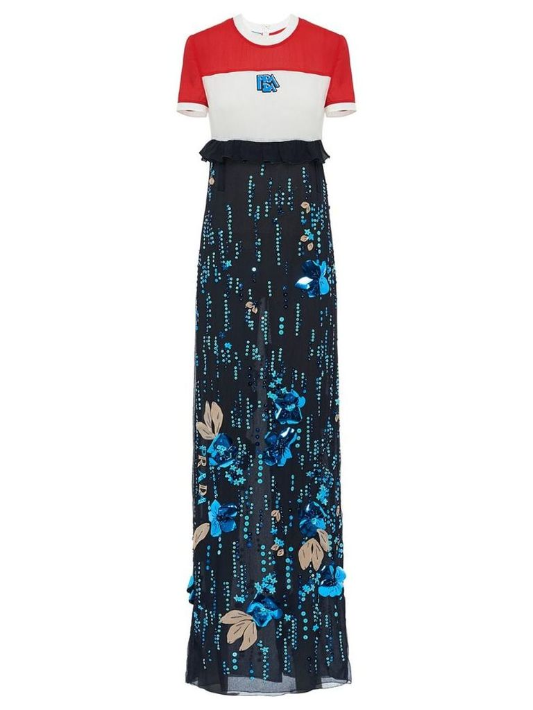 Prada long printed dress - Red