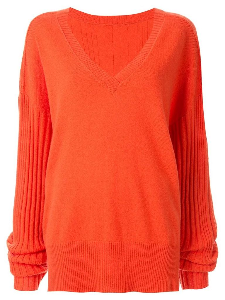 Dion Lee Corrugated ribbed knit sweater - Orange