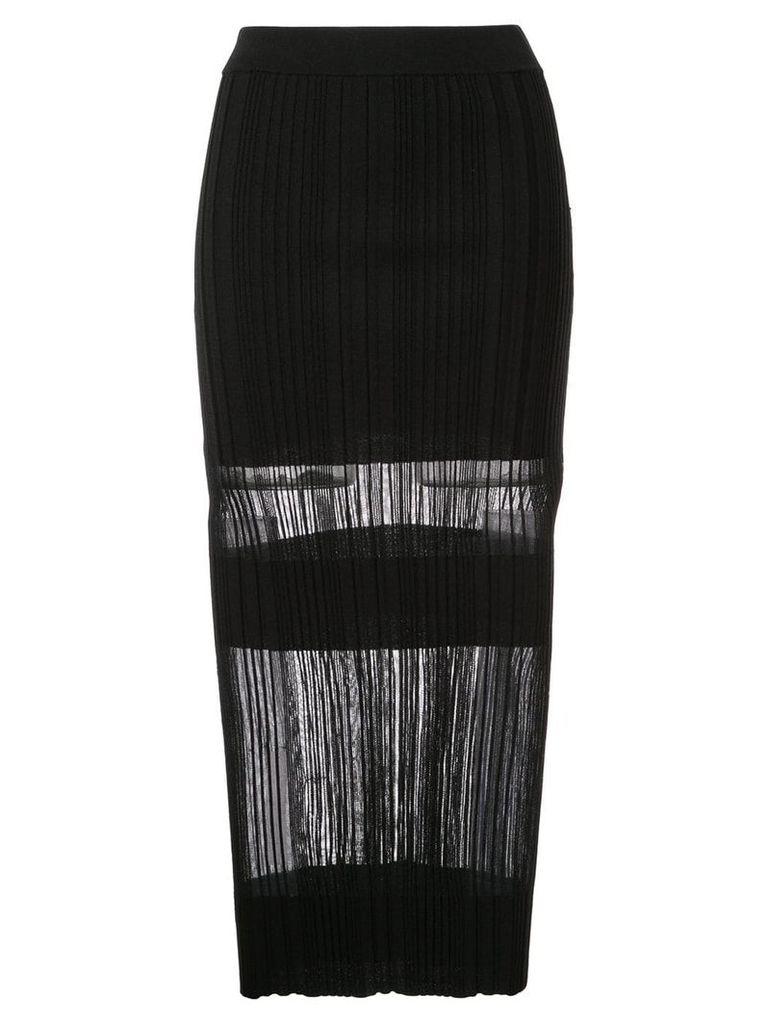Dion Lee Opacity pleat skirt - Black