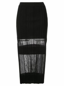 Dion Lee Opacity pleat skirt - Black