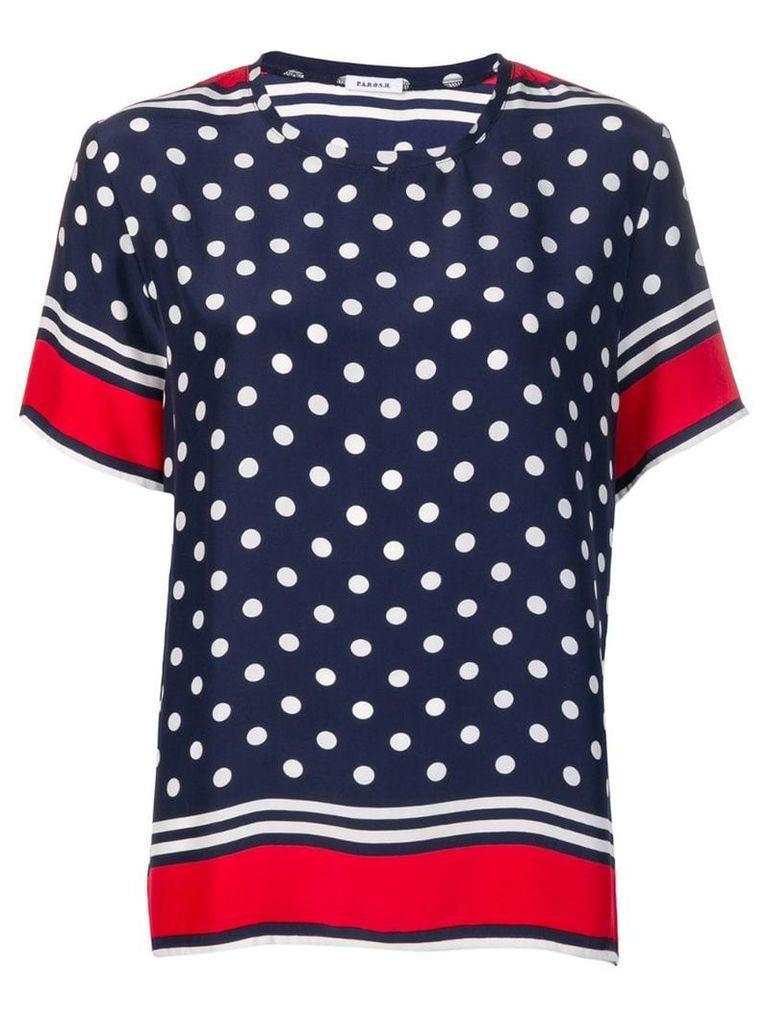 P.A.R.O.S.H. polka dot T-shirt - Blue