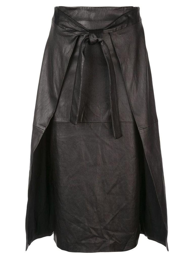 Rosetta Getty apron wrap skirt - Black