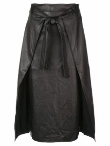 Rosetta Getty apron wrap skirt - Black