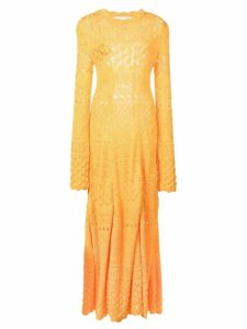 Carolina Herrera multi-knit dress - Yellow