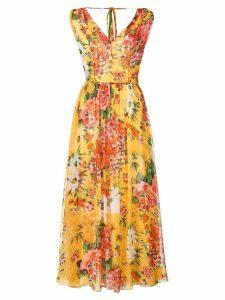 Carolina Herrera floral print dress - Yellow