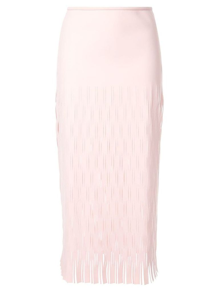 Dion Lee slit detail midi skirt - Pink