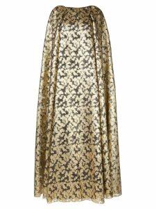 Ingie Paris metallic cape dress - Gold