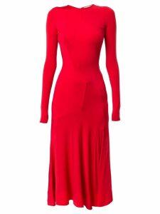 Esteban Cortazar long-sleeved midi dress - Red