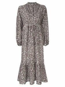 Christian Wijnants printed midi dress - Grey