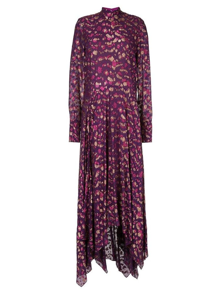 Petar Petrov long flared dress - Purple