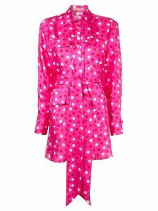Maggie Marilyn polka dot mini shirt dress - Pink