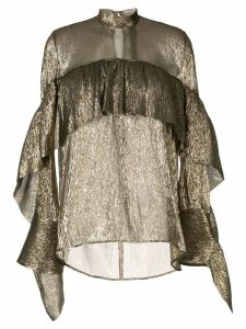 Petar Petrov sheer ruffled blouse - GOLD